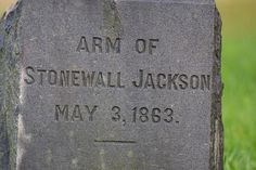 """The gravesite of the left arm of General Stonewall Jackson - After General Jackson's arm was amputated nearby at the Wilderness Tavern, his doctor, Hunter McGuire didn't feel that it was appropriate for the General's arm to be buried in a mass grave with other amputated  limbs, so he took the arm, and brought it to his   family's home nearby and had it buried in the  family plot."""