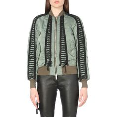 Unravel Distressed shell bomber jacket ($1,180) ❤ liked on Polyvore featuring outerwear, jackets, army, bomber jacket, shell jacket, patterned bomber jacket, print bomber jacket and zip bomber jacket