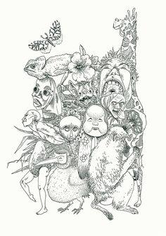 FEED YOUR HEAD . moineau illustration . https://moineau-illustration.tumblr.com/