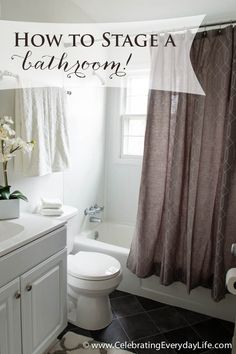Bathroom Makeovers To Sell bathroom makeover for staging a house to sell. … | pinteres…