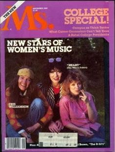 The Band Heart: Ann and Nancy on the Cover if MS Magazine Septembe...