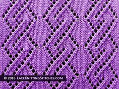 Lace Knitting. #30 Lace Diamond Chain