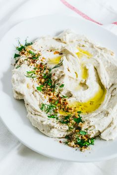 whipped feta dip with red pepper flakes and herbs: perfect for football season!
