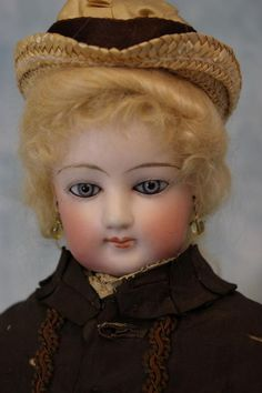 "c.1890 17"" Jumeau ""3"" French Fashion Bisque Doll in ORIGINAL Antique Silk Dress! | Dolls & Bears, Dolls, Antique (Pre-1930) | eBay!"