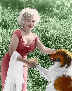 Marilyn monroe and Lassie at the ray anthony party: | Flickr