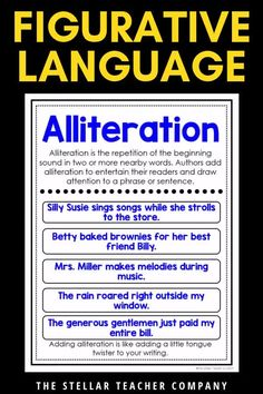 Are you looking for a way to help your students understand how to use figurative language in their writing? These mini a Part Of Speech Grammar, Teaching English Grammar, English Writing Skills, English Vocabulary Words, Learn English Words, English Language Learning, Teaching Spanish, Spanish Language, Teaching Resources