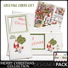 Merry Christmas Holiday Cards by: Over the Fence Designs Available FREE until: December 22