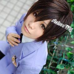 Ouran-High-School-Host-Club-Haruhi-Fujioka-Short-Dark-Brown-Cosplay-Hair-Wig