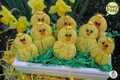 Lemon Chick Peepers. Use a lemon cake mix. Cute!