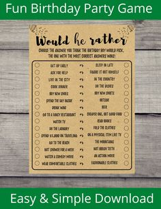 Boy Party Games, 50th Birthday Party Games, Adult Party Games, Adult Birthday Party, Birthday Ideas, All Games For Boys, Disney Love Songs, Birthday Words, Matching Games