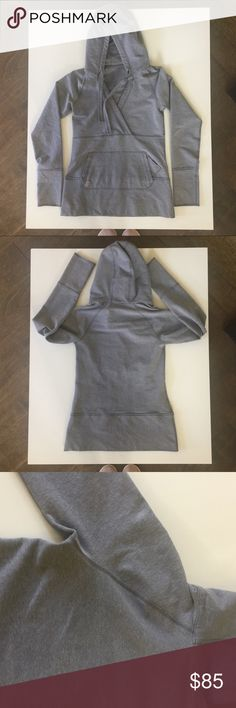 7ff4581d28d6 Lululemon hoodie deep v neck pullover 6 grey This style pre dates the size  dot.