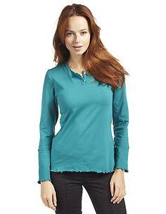 Jersey-Shirt, langarm Vesla von Deerberg in grün | Deerberg