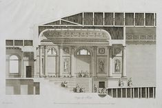 Cross-Section of the Auditorium of the Hermitage Theatre with Part of Foyer and Stage
