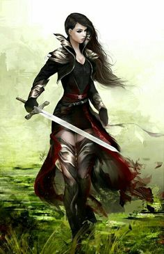 Female Fighter Mercanary - Pathfinder PFRPG DND D&D d20 fantasy