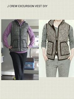 Diy excursion vest - walmart version cost around fifteen bucks, added some trim. Close enough to the over one hundred dollar j crew version for me!