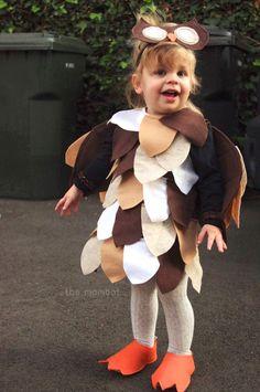 DIY owl Halloween costume