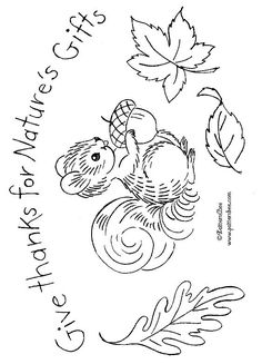 GIVE THANKS FOR NATURES GIFTS - embroidery pattern