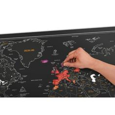 Scratch map Carte du monde ardoise � gratter