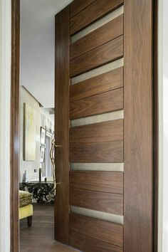 TruStile Modern Door Collection   In Walnut With Edelman Leather And Radius  Reveal.