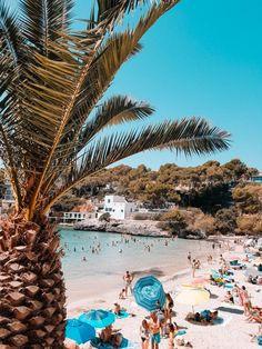 So schön ist die Cala Santanyi im Südosten Hotels, Ocean Beach, Opera House, Building, Beaches, Travel, Del Mar, Blue Flag, Deep Blue Sea