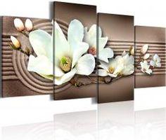 Картина на стену - Орхидеи на песке