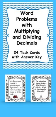 Multiplying and Dividing Decimals: Task Cards Multiplying Decimals, Dividing Decimals, Teaching Strategies, Teaching Math, Summer School, High School, Math Charts, Fifth Grade Math, Differentiated Instruction
