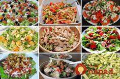 Fantastické šaláty, z ktorých si vyberie každý. Sú výborné, sýte a rýchlo pripravené! Cottage Cheese, Kung Pao Chicken, Fried Rice, Cobb Salad, Cabbage, Mozzarella, Meat, Vegetables, Cooking