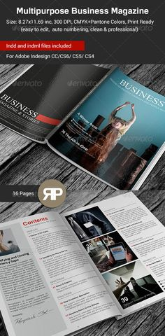 Multipurpose Business Magazine Template — InDesign INDD #color #a4 • Available here → https://graphicriver.net/item/multipurpose-business-magazine-template/7571487?ref=pxcr
