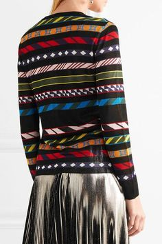 Mary Katrantzou - Dax Jacquard-knit Cardigan - Black - x large