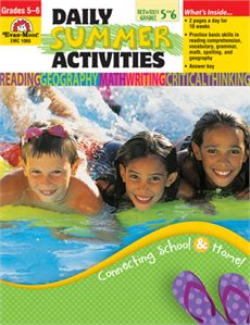 Daily Summer Activities, Going from Grade 5 to 6 EMC1066 To order, Email: Orders@ACEeducational.com