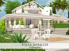 Villa Apricot by Pralinesims at TSR via Sims 4 Updates