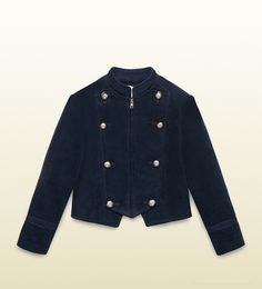 Gucci - kid's stretch corduroy jacket with metal buttons