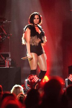 Demi Lovato performing at Z100 Jingle Ball at Madison Square Garden December 11th