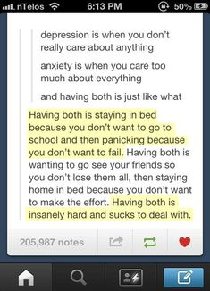Anxiety and depression… This just described everything about my life.