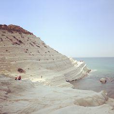 Spiaggia Scala dei Turchi di Realmonte, Agrigento #sicilia #sicily