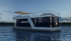"Boathouses: Houses ""on the Lake"" - Romeo & Giulietta's Hideaway Inn Floating Architecture, Amazing Architecture, House Yacht, Boat House, Tiny Boat, Smart Home Design, Lakefront Property, Water House, Floating House"