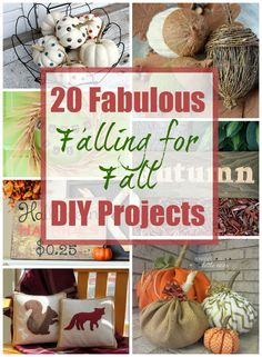 20 Fabulous Falling for Fall DIY Projects from the DIY Challenge