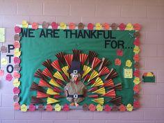 Turkey bulletin board... Be thankful