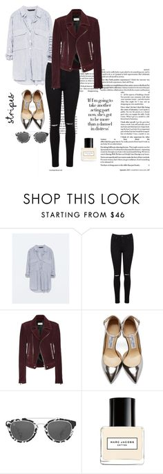 """""""Stripes In The City"""" by megadoresbeautyx ❤ liked on Polyvore featuring мода, Zara, Miss Selfridge, Balenciaga, Jimmy Choo, Taylor Morris и Marc Jacobs"""
