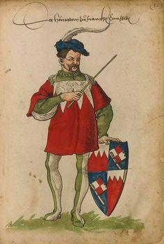 «??». Faszikel VIII: Wappenherolde der süddeutschen Länder (214r) -- «Sammelband mehrerer Wappenbücher», Augsburg? (Süddeutschland), um 1530 [BSB Cod.icon 391].