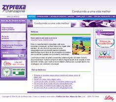Site do produto Zyprexa da Eli Lilly