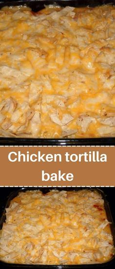 Mexican Dishes, Mexican Food Recipes, Mexican Cheese, Chicken Tortilla Bake, Mexican Beef Casserole, Easy Casserole Recipes, Easy Recipes, Easy Meals, Different Chicken Recipes