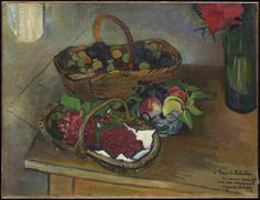 Nature morte aux fruits et aux fleurs, 1926 Suzanne Valadon (French) Painting, oil on canvas, 50.3 x 65.4cm Gift from the Estate of R. Fraser Elliott, 2005