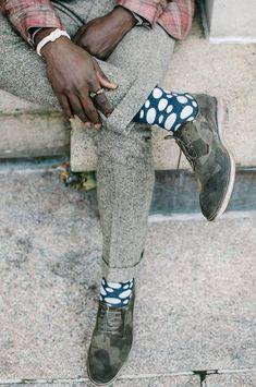 как носить цветные носки