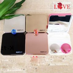 Eyewear Accessories Men's Glasses Reasonable Mini Mirror Contact Lens Travel Kit Easy Carry Case Storage Holder Container Box To Ensure Smooth Transmission