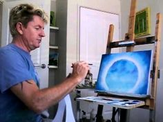 how to paint a moon with tree's (arcrylic)