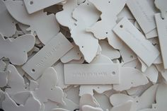 what if you made these with air dry clay or paper clay for a shabby chic look?