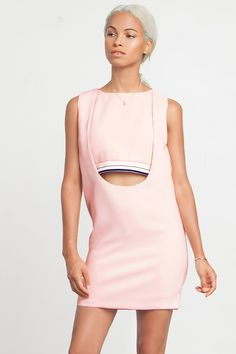 Sporty Pink Cut-Out Dress