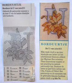 Digitale Bibliotheek: 2apr17 Embroidery pattern/Borduurpatroon alfabet U...