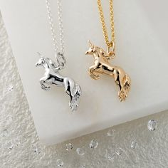Lily Charmed Silver and Gold Unicorn Necklace